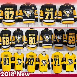 d739aeb84 Pittsburgh Penguins 87 Sidney Crosby Hockey Jerseys 58 Kris Letang 71  Evgeni Malkin 72 Patric Hornqvist 81 Phil Kessel 59 Jake Guentzel
