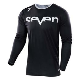 Venta al por mayor de 2019 Nuevo estilo Siete bicicleta de manga larga jersey de manga larga Transpirable deporte de montaña carreras de motocross camiseta de ciclismo MX camiseta