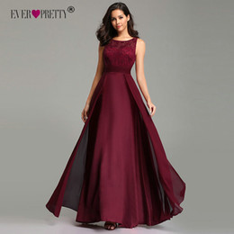 $enCountryForm.capitalKeyWord Australia - Elegant Prom Dresses Long 2019 Ever Pretty Ez07695 Women's Sexy A-line Sleeveless O-neck Chiffon Lace Cheap Evening Party Gowns J190629