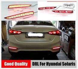 Опт 2шт для Hyundai Solaris Accent 2017 2018 многофункциональный автомобиль LED Задний противотуманный фонарь бампер свет авто стоп-сигнал отражатель