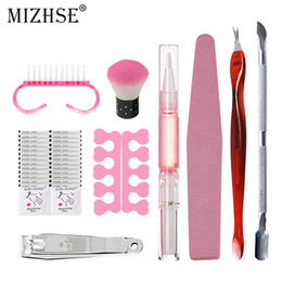 $enCountryForm.capitalKeyWord NZ - MIZHSE 9pcs Manicure Set Tools For Manicure Nail Stainless Steel Finger Dead Skin Cut Remover Pusher Cleaning Buffer For Nails