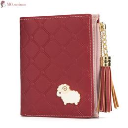 $enCountryForm.capitalKeyWord NZ - Brand Women Short Wallet Tassel Zipper Female Holder Black Coin Purse ID Card High Quality PU Leather Folding Purse Money Clip