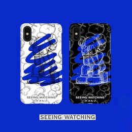 Iphone Puls Australia - Trends kaws Sesame Street iPhone xs 8 puls xr Tide brand joint mobile phone case iphone xs max mobile phone case