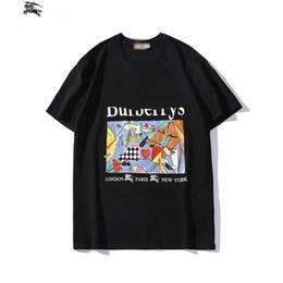 $enCountryForm.capitalKeyWord UK - BURB ERRYTshirt fashion mens designer Tshirts brand horse oil painting T shirt luxury pure street hip hop T-shirt outdoor loose hot Wild tee