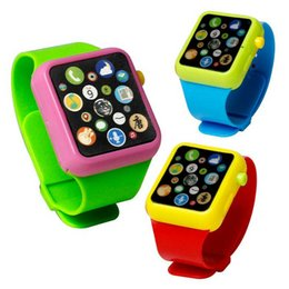 $enCountryForm.capitalKeyWord Australia - Children Kids Early Education Toy Wrist Watch 3D Touch Screen Music Smart Teaching Baby Hot Selling Birthday Gifts 3 colors