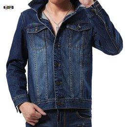 $enCountryForm.capitalKeyWord Australia - Idopy Men`s Biker Jacket Slim Fit Motorcycle Rugged Trucker Jeans Denim Jacket For Men