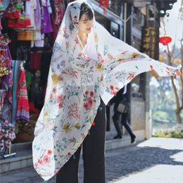 $enCountryForm.capitalKeyWord Australia - Women Scarf Elegant Fashion Women Long Print Cotton Polyester Scarf Lady Wrap Ladies Shawl Large Scarves for Spring Kerchief