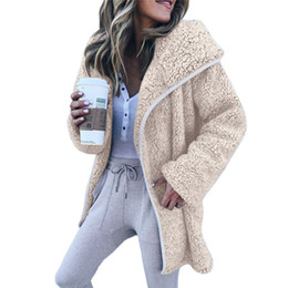 f01f9cd9cba Fashion Women Teddy Bear Coat Autumn Winter New Faux Fur Coat Fur Cardigan  Solid Loose Warm Jackets Overcoat Outwear Casaco
