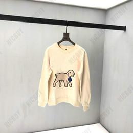 Mens diaMond sweatshirt online shopping - fashion autumn designer Brand mens clothing flocking lamb diamond neck animal red letter print hoodies pullover casual cotton sweatshirt