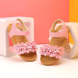 sandals for toddler girls 2019 - Girls Sandals Toddler Baby Girl Sandals Floral Sole Kids Children Princess Shoes Beach Summer For Girls Kids discount sa