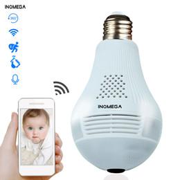 $enCountryForm.capitalKeyWord Australia - INQMEGA 360 Degree LED Light 960P Wireless Panoramic Home Security Security WiFi CCTV Fisheye Bulb Lamp IP Camera Two Ways Audio