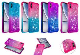 $enCountryForm.capitalKeyWord Australia - Quicksand Shockproof Bling TPU Phone Liquid Gradient Glitter Case for iphone XS MAX XR 6 7 8 ipod touch5 6 Samsung Galaxy S10 plus S10eS8 S9