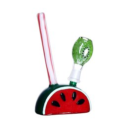 bong accessories Canada - 6.5inch Mini Oil Burner Watermelon Colorful Glass Oil Burner Water Bong Dab Rigs Bongs Ash Catcher Hookah Pipe with Smoking Accessories