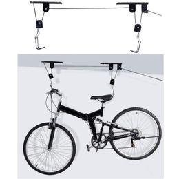 $enCountryForm.capitalKeyWord Australia - 45 lbs Strong Bike Bicycle Lift Ceiling Mounted Hoist Storage Garage Hanger Pulley Rack Metal Lift Assemblies #510295