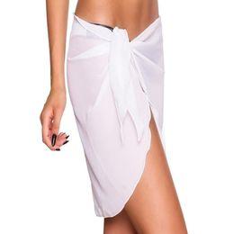 61e319cb64 New Summer Women swimwear wrap bikini cover up sexy sarong pareo SHORT MESH  beach swimsuit sheer