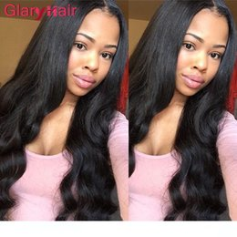 black hair weaving styles Canada - A A Wholesale Glary Hair Vendors Brazilian Human Hair Extensions Malaysian Peruvian Hair Weave Bundles Wet Wavy Body Wave Fashion Style