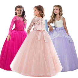 $enCountryForm.capitalKeyWord Australia - 2019 Spring Teenage Long Sleeve Christmas Dress Party Prom Wedding Dress Kids Dresses For Girls Costume Clothes Princess Dress Y190515