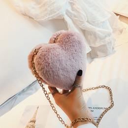 $enCountryForm.capitalKeyWord Australia - 2018 Fashion Women's Designer Handbag Quality Plush Heart Women Bag Dinner Party Purse Sweet Girl Chain Shoulder Messenger Bags Y19061903