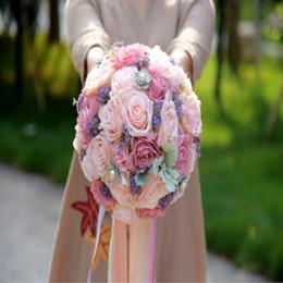 $enCountryForm.capitalKeyWord NZ - Amazing Artificial Silk Flower Wedding Bridal Bouquets Outside Garden Wedding Suppliers Bridesmaids Handhold Home Decoration 2019 Cheap