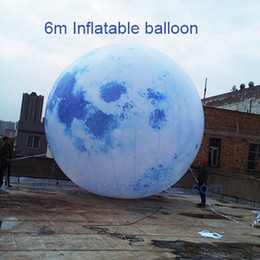 Hand Inflatable Canada - NEW HOT SALE 6m Inflatable Moon balloon with lighting blower for Moon Festival event party decorations on ground or hand ceiling