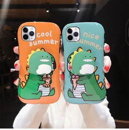 mobile phone cartoon back cover Australia - Nice Luxury Cartoon dinosaur waist suitcase mobile phone case for iPhone 11 Pro Max X XR XS Max 7 8 Plus back cover