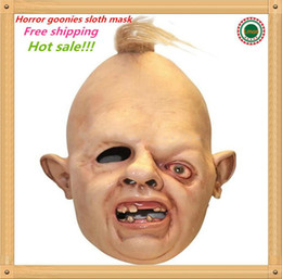 Discount back up metal - Hot Sale Details About Halloween Costume Sloth Goonies Movie Horror Dress Up Latex Party Masks Free Shipping