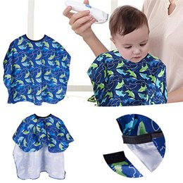 children salon cape Australia - Salon Waterproof Hair Cutting Gown Cape Nylon Hairdresser Cape Sea Fish Patterned Barber For Kids Child Waterproof #289295