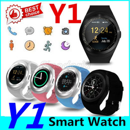 Gsm messaGes online shopping - Bluetooth Y1 Smart Watch Relogio Android SmartWatch Phone Call GSM Sim Remote Camera kids Intelligent clock Sports Pedometer Fitness Tracker