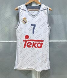 Ingrosso Cheap personalizzato LUKA DONCIC REAL MADRID BASKET JERSEY FIBA EUROBASKET CHAMP cucito Personalizza qualsiasi nome numero UOMO DONNA GIOVANI XS-5XL
