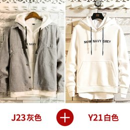 $enCountryForm.capitalKeyWord Australia - Korean Hoodie Teenager Fashion Loose Stylish Sweatshirt Long Sleeve Streetwear Slim Coat Men Jacket Couple Hoodie Men Oversize