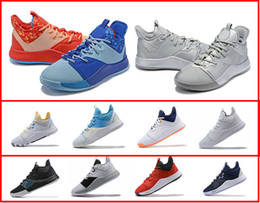 Discount sports fishing lures PlayStation x PG 3 EYBL NASA Reflect Silver Platinum Tint Men Designer Sports Shoes Paul George 3 GS Lure Men Basketball