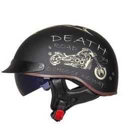 CasCo helmets moto online shopping - GXT Motorcycle Helmet Men Vintage Casco Moto Helmet Open Face Scooter Motorbike Racing Riding Helmet With DOT Certification