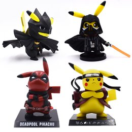 82dad159 Deadpool Pikachu Australia - 4 Styles Anime Cute Pikachu Cosplay Deadpool  Batman Darth Vader Naruto PVC