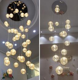 Under kitchen online shopping - custom villa circular hand blown round glass spiral hanging high ceilings staircase modern lights for home chandelier LLFA