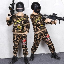 baby camouflage jackets Australia - Children's Clothing Boy Sweater Sweat Pants Spring and Autumn Models New Jacket Casual Sports Shirt Trousers Baby Camouflage Clothing 2