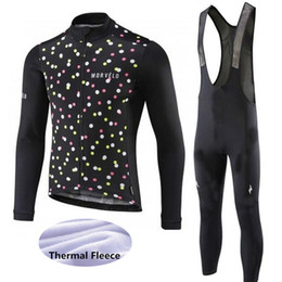 bicycle winter clothes 2019 - MORVELO Winter Men cycling clothing thermal fleece cycling jersey suits long sleeve maillot ciclismo warmer bicycle clot