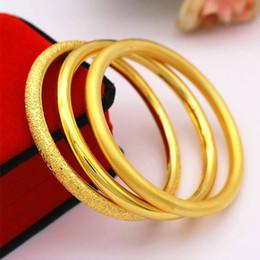 Yellow Gold 18k Bangle Australia - Hereditary Vintage Bangle 18k Yellow Gold Filled Womens Bangle Unopen Lady Jewelry Gift Classic Style Solid