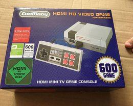 HDMI Mini Classic TV Consolas de jogos CoolBaby 600 Modelo de vídeo Game Player Para 600 NES HD Jogos de Console de Aniversário Xmas Presente de natal venda quente venda por atacado
