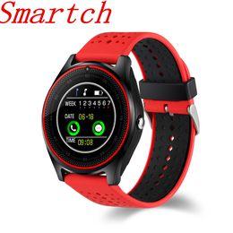 V9 Clock Camera Australia - Smartch Smart Watch V9 Support SIM card 2G Camera Sport Health MP3 music Clock men women Smartwatch For Android IOS PK DZ09 GT08