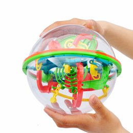 games brain training UK - 3D puzzle Ball Magic Intellect Ball 100 Step Labyrinth Sphere Globe Toys Challenging Barriers Game Brain Tester Balance Training