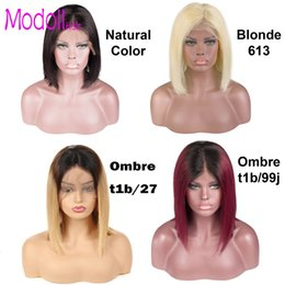 $enCountryForm.capitalKeyWord NZ - 613 blonde lace wig human hair Short Lace Front Human Hair bob ombre Wigs For Women 150% Density Perruques de cheveux humains dhgate