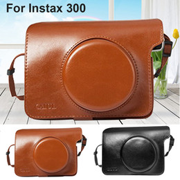 Camera Shoulder Strap Australia - PU Leather Bag Case Cover Pouch Protector   Shoulder Strap black or brown for Instax Wide 300 Instant Print Camera