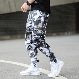 63ff8ea0 Fashion Camouflage Punk Style Men's Jogger Pants Youth Streetwear Hip Hop  Jeans Men Big Pocket Cargo Pants Harem Trousers Homme Y190510