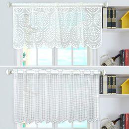 $enCountryForm.capitalKeyWord Australia - Short Sheer Curtain White Valance Curtains for Living Room Raindrop Grid Curtains Rod Pocket Mesh Window Sheer Drapes Home Decor