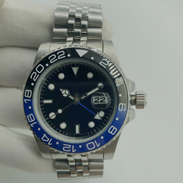 venda por atacado montre de luxe mans relógios automáticos de cerâmica cheio de 40mm de aço inoxidável relojes impermeáveis super-luminosos de lujo para hombre