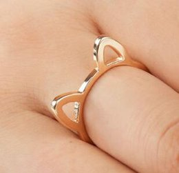 $enCountryForm.capitalKeyWord Australia - New Style Couple Jewelry Silver Black Gold Color Ring Cute Cat Ear Rings For Women Wholesale