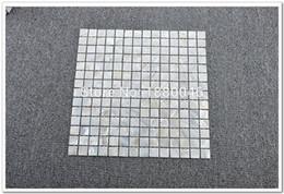 Ingrosso Spedizione gratuita shell mattonelle di mosaico bianco shell piastrelle lustro madreperla piastrelle backsplash cucina specchio del bagno piastrelle Decorative