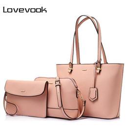 LOVEVOOK Retro Handbags For Women Shoulder Crossbody Bag Female Messenger  Bags Large Tote Bag Small Wallet Purse 2 Set Composite e939681352eb6