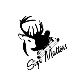 Cartoon Deer Head Australia - Size Matters Hunting Decal Bow Hunter Archery Truck Car Window Deer Accessories Motorcycle Helmet Car Styling Car