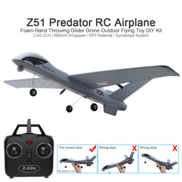 Rc aiRplanes cameRas online shopping - RC Airplane Plane Z51 with MP HD Camera or No Camera Minutes Fligt Time Gliders With LED Hand Throwing Wingspan Foam Plane